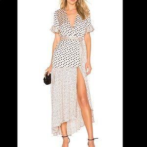 Privacy Please Dresses - Polka-Dot Maxi Dress